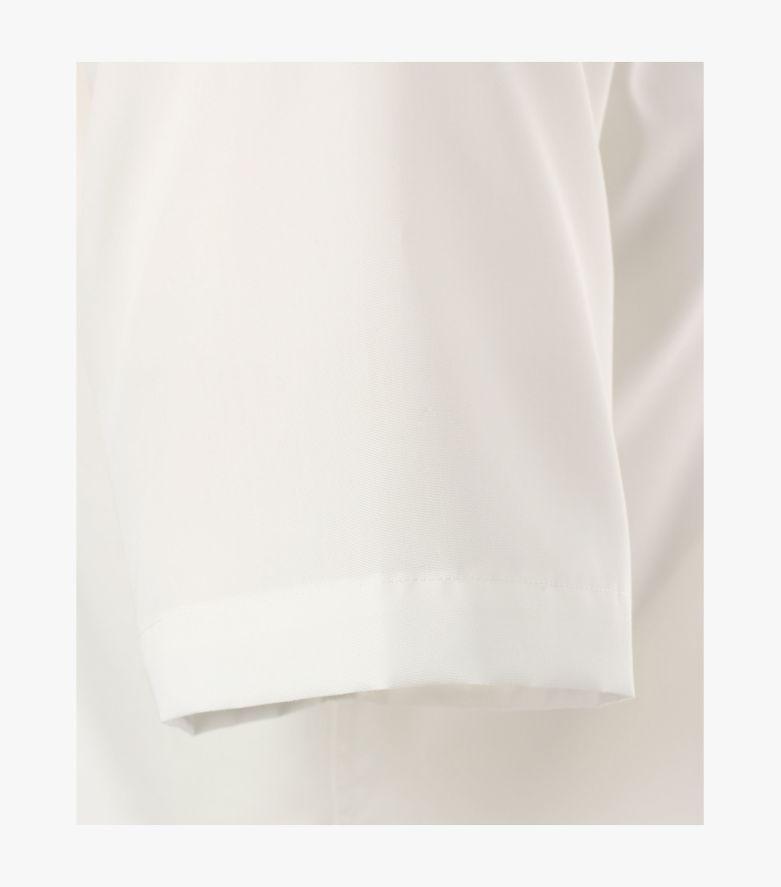 Businesshemd Kurzarm in Weißbeige Modern Fit - VENTI