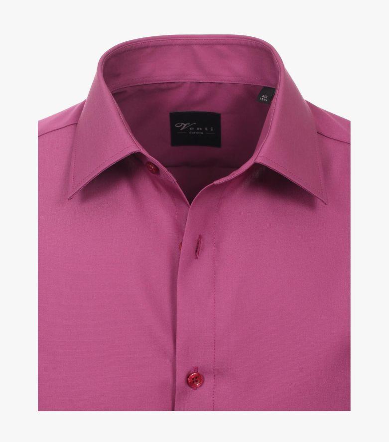 Businesshemd Kurzarm in Pinklila Modern Fit - VENTI
