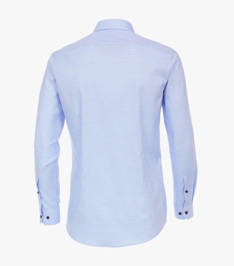 Businesshemd in helles Mittelblau Body Fit - VENTI