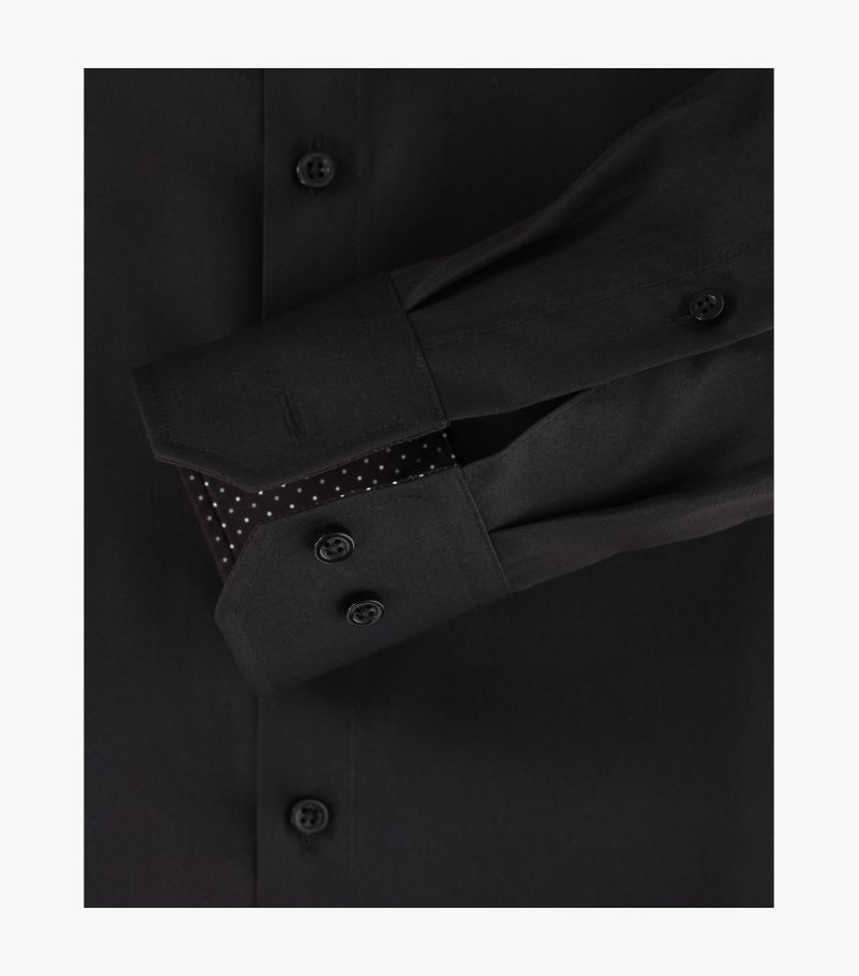 Businesshemd in Schwarz Modern Fit - VENTI