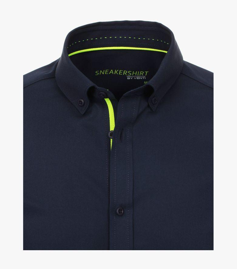 Freizeithemd in sattes Dunkelblau Modern Fit - VENTI