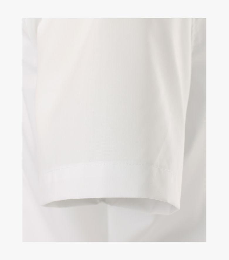 Businesshemd Kurzarm in Weiß Body Fit - VENTI
