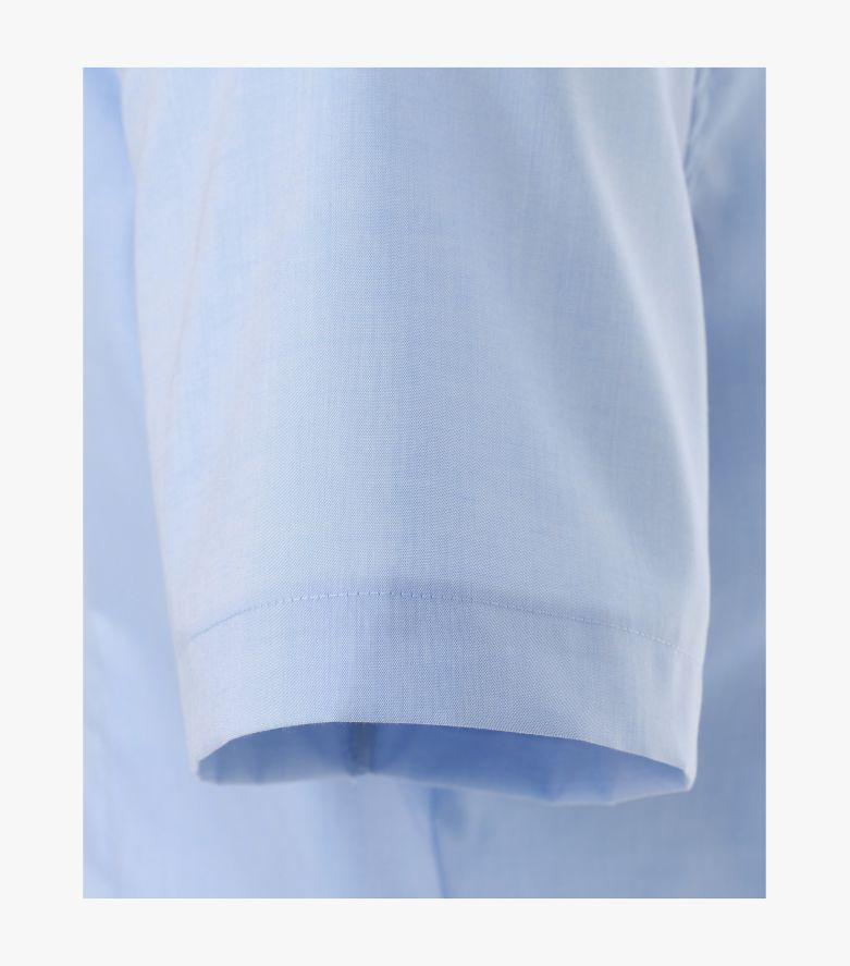 Businesshemd Kurzarm in Mittelblau Body Fit - VENTI