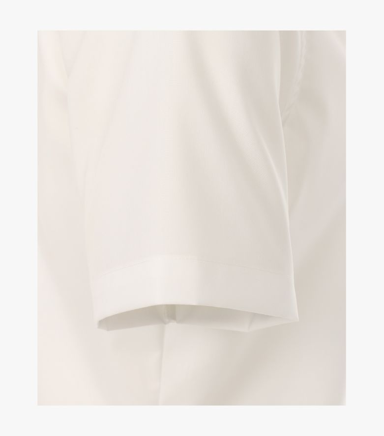 Businesshemd Kurzarm in Weißbeige Body Fit - VENTI