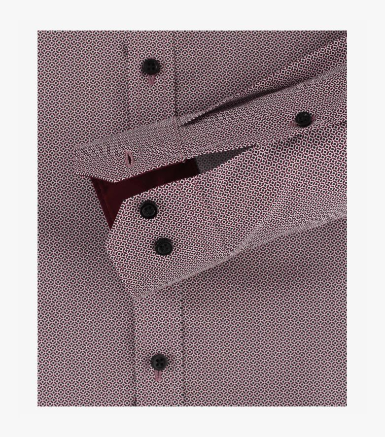 Businesshemd in Dunkelrot Body Fit - VENTI