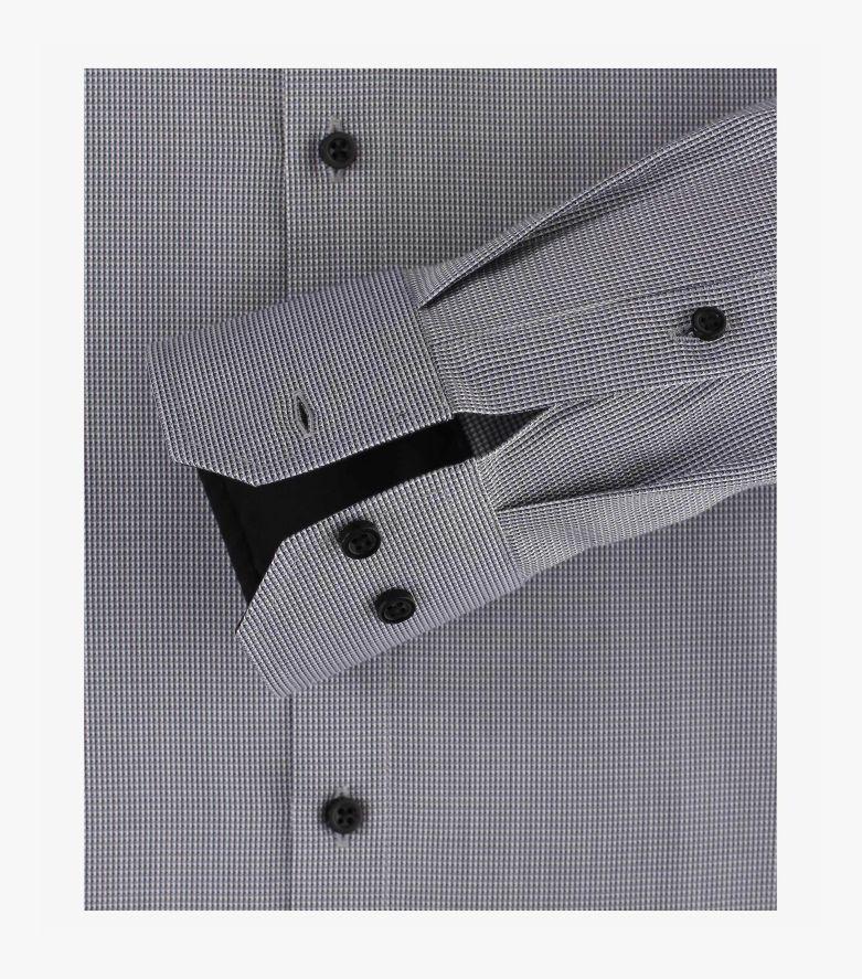 Businesshemd extra langer Arm 72cm in Grau Modern Fit - VENTI