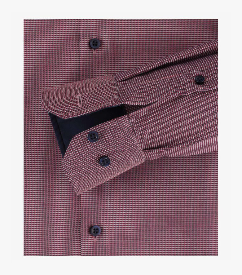 Businesshemd extra langer Arm 72cm in sattes Rot Modern Fit - VENTI