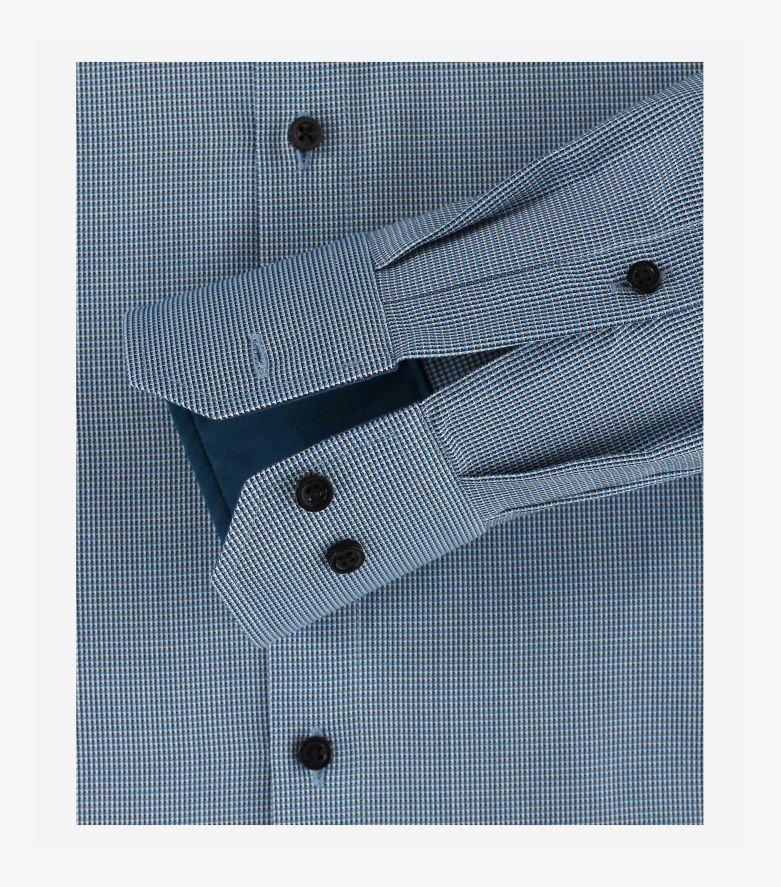 Businesshemd extra langer Arm 72cm in Türkisblau Modern Fit - VENTI