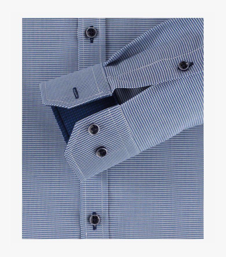 Businesshemd in mittleres Dunkelblau Body Fit - VENTI