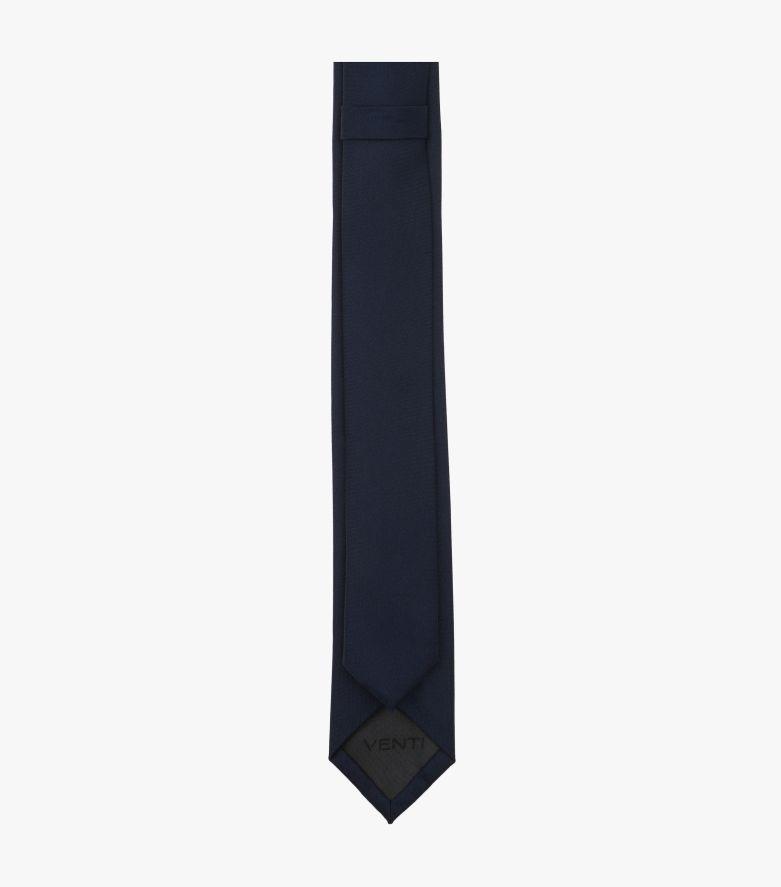 Krawatte in graues Dunkelblau - VENTI