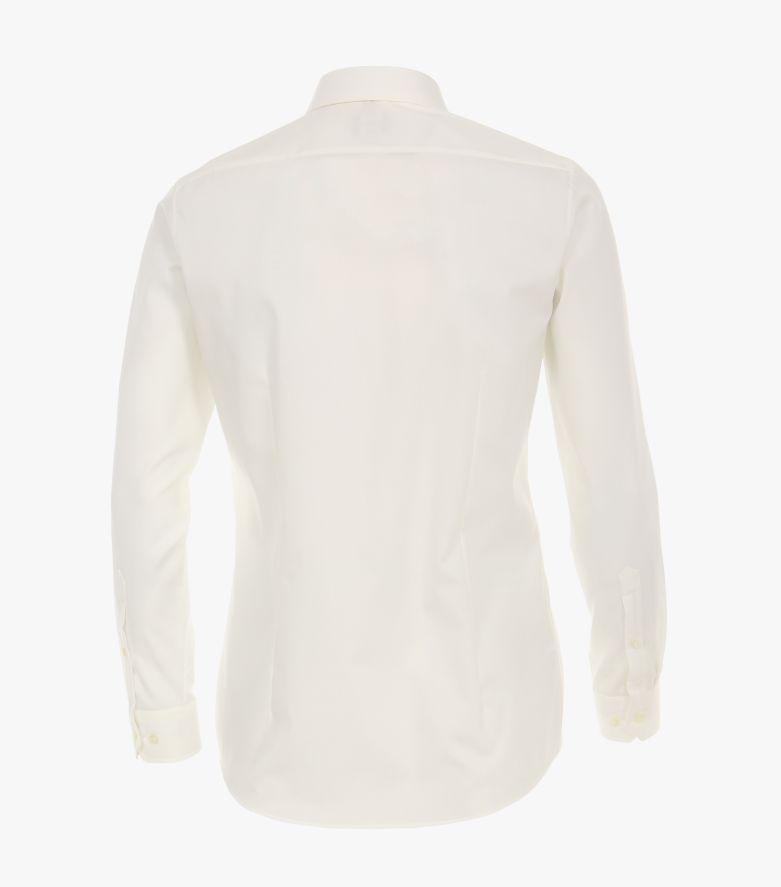 Businesshemd extra langer Arm 72cm in Weißbeige Body Fit - VENTI