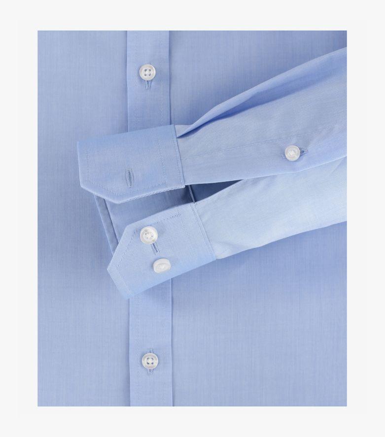 Businesshemd extra langer Arm 69cm in Azurblau Body Fit - VENTI