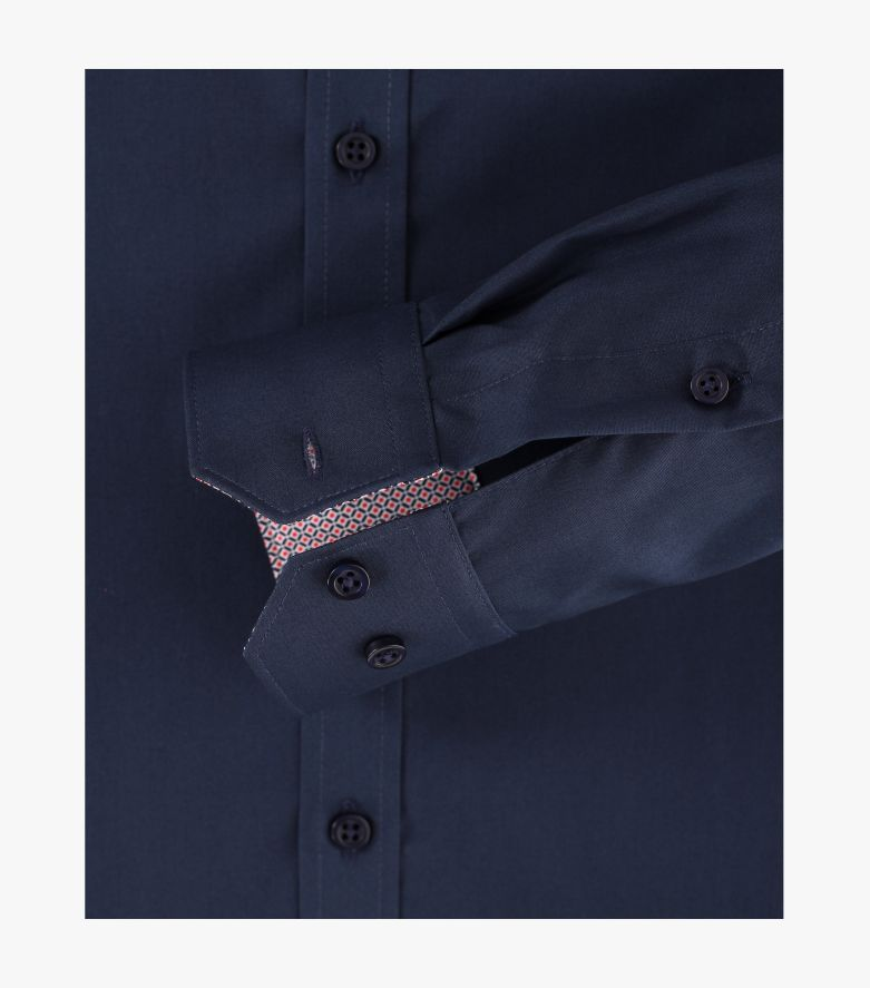 Businesshemd extra langer Arm 72cm in Dunkelblau Body Fit - VENTI