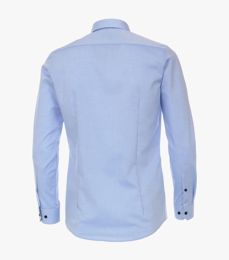 Businesshemd extra langer Arm 72cm in Azurblau Body Fit - VENTI