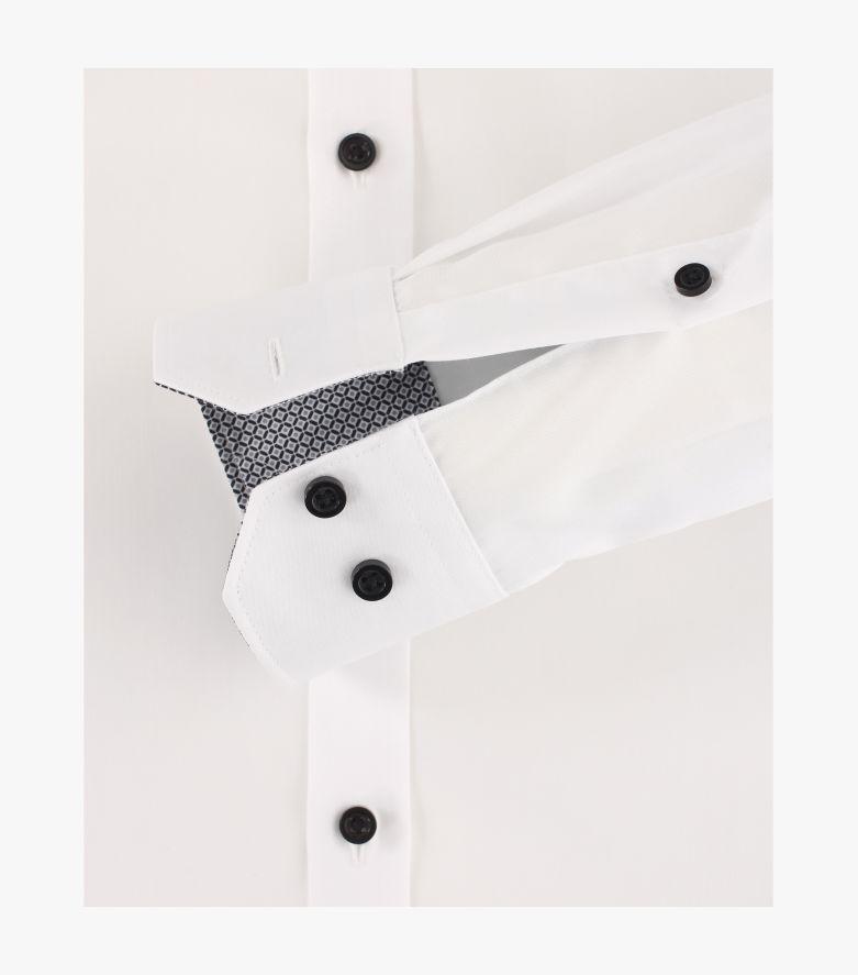 Businesshemd extra langer Arm 72cm in Schneeweiß Body Fit - VENTI