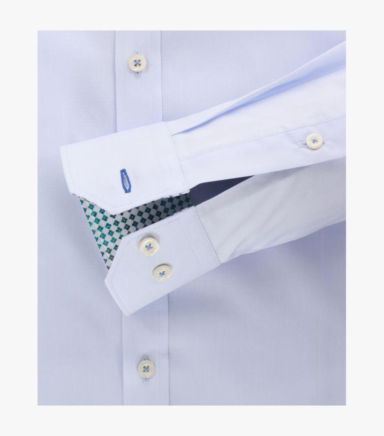 Businesshemd in Azurblau Body Fit - VENTI