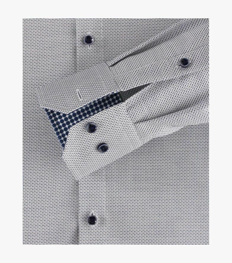 Businesshemd Kurzarm in graues Dunkelblau Modern Fit - VENTI