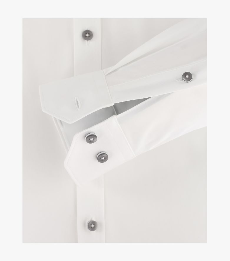 Businesshemd Hyperflex in Weiß Body Fit - VENTI