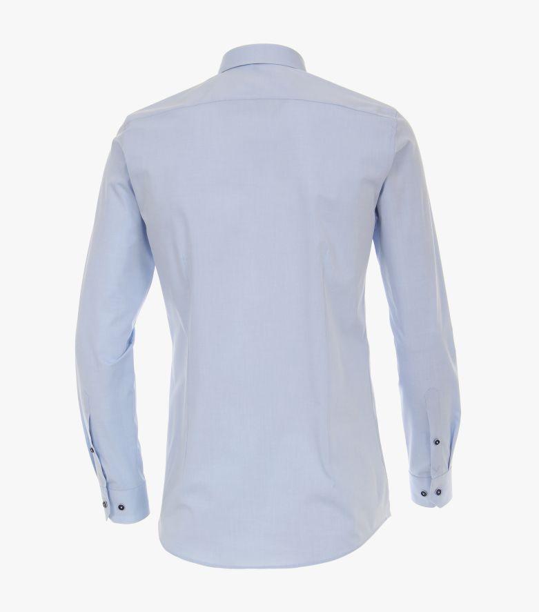Businesshemd Hyperflex in Azurblau Body Fit - VENTI
