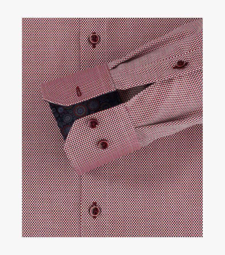 Businesshemd in Rot Modern Fit - VENTI