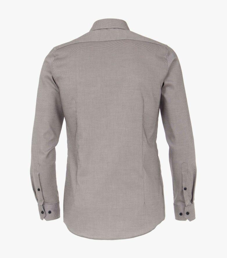Businesshemd in graues Dunkelblau Body Fit - VENTI
