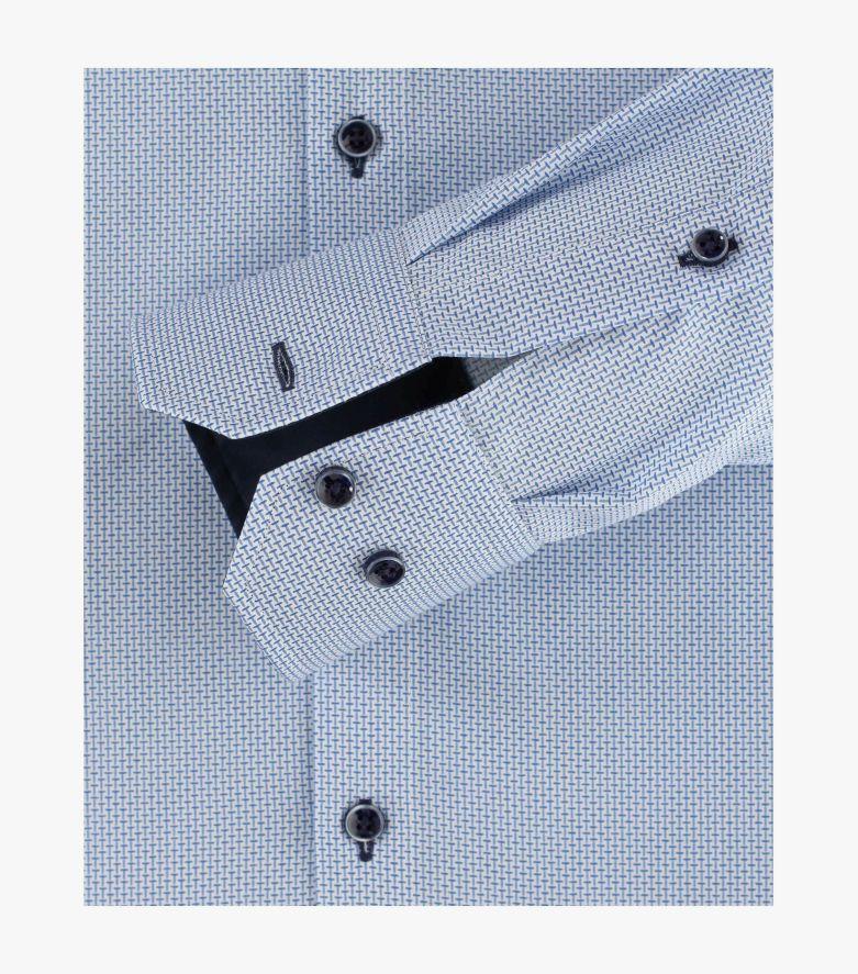 Businesshemd in Weißblau Modern Fit - VENTI