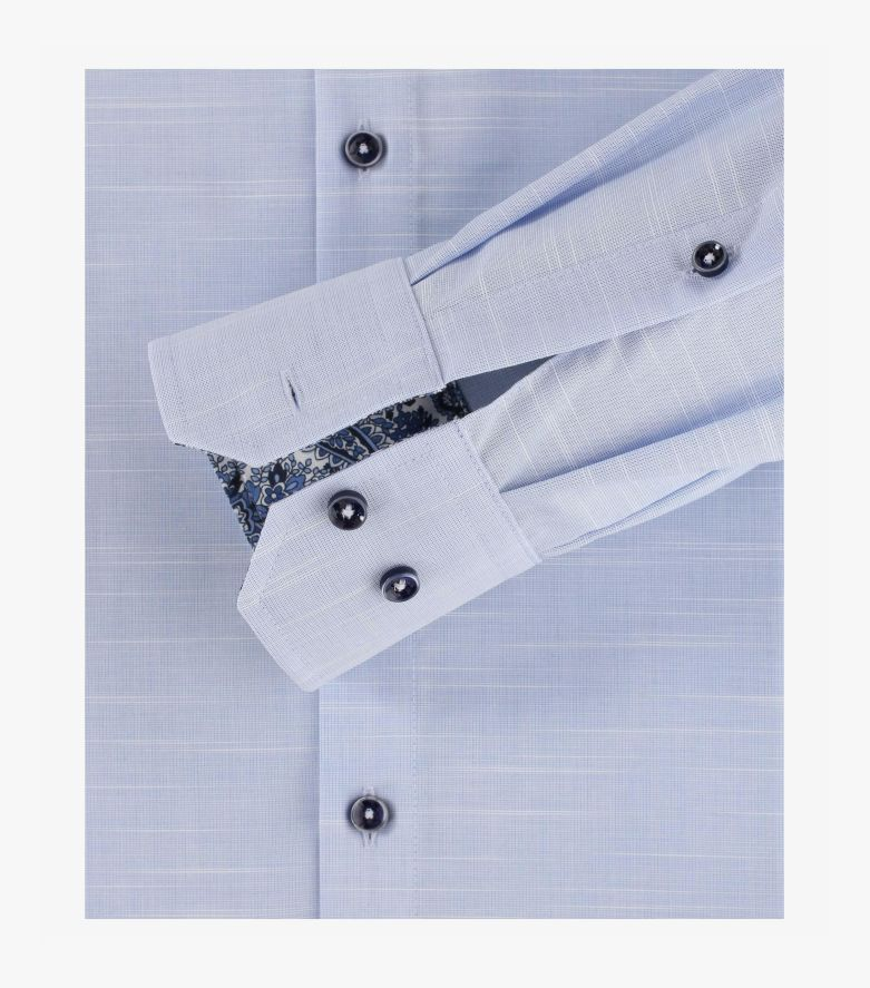 Businesshemd extra langer Arm 72cm in helles Himmelblau Modern Fit - VENTI