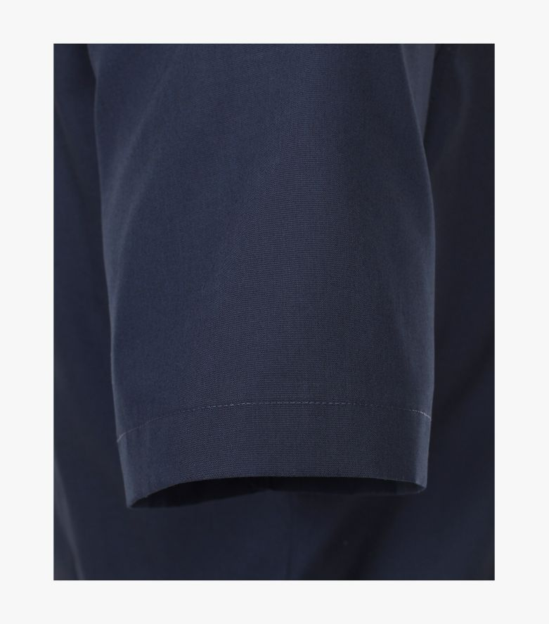 Businesshemd Kurzarm in sattes Dunkelblau Modern Fit - VENTI