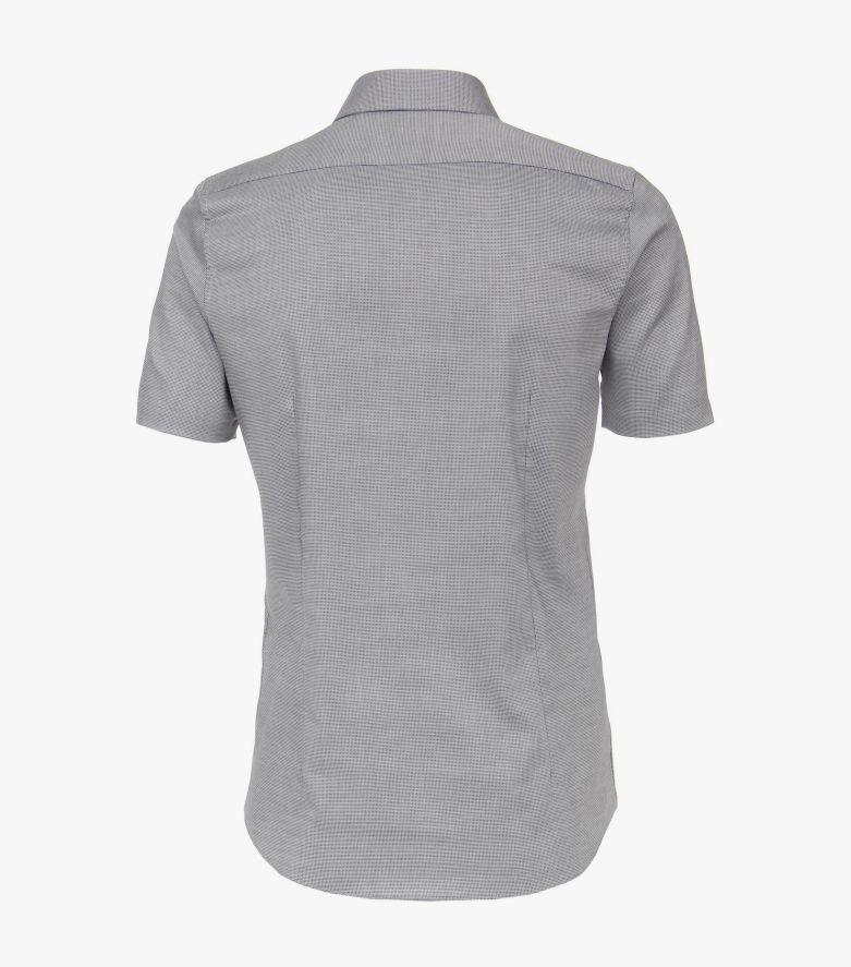Businesshemd Kurzarm in Grau Body Fit - VENTI