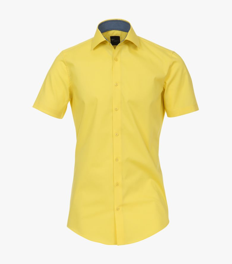 Businesshemd Kurzarm in 500 gelb Body Fit - VENTI