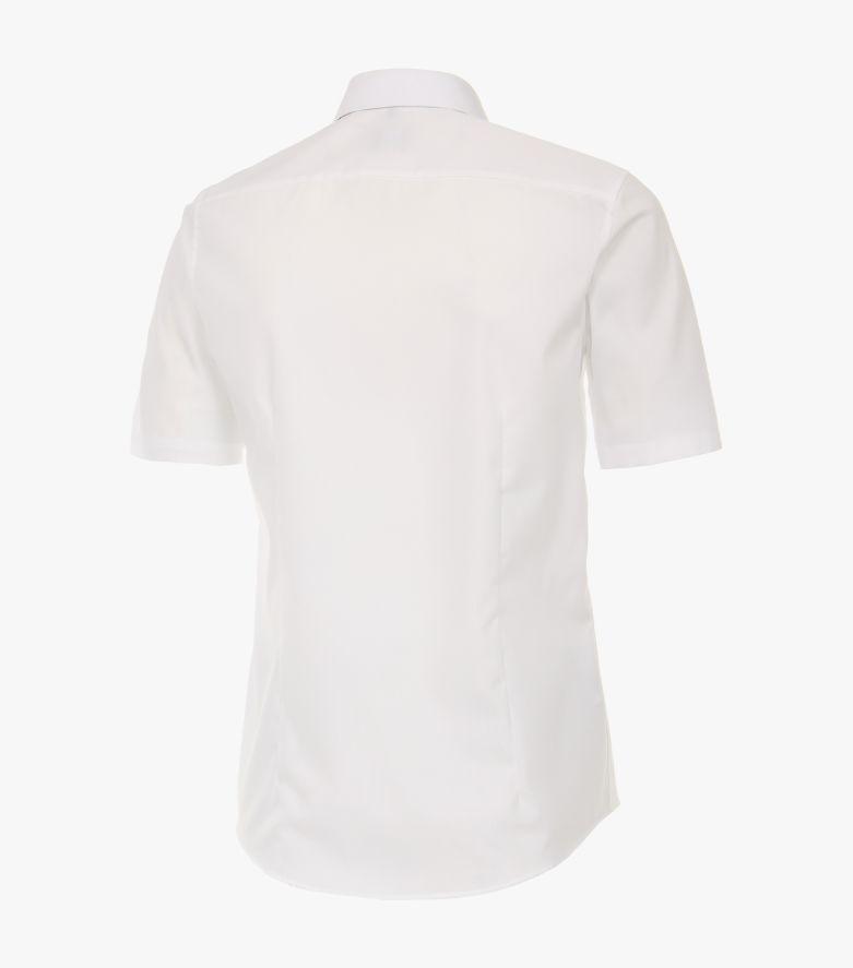 Businesshemd Kurzarm in Weiß Modern Fit - VENTI