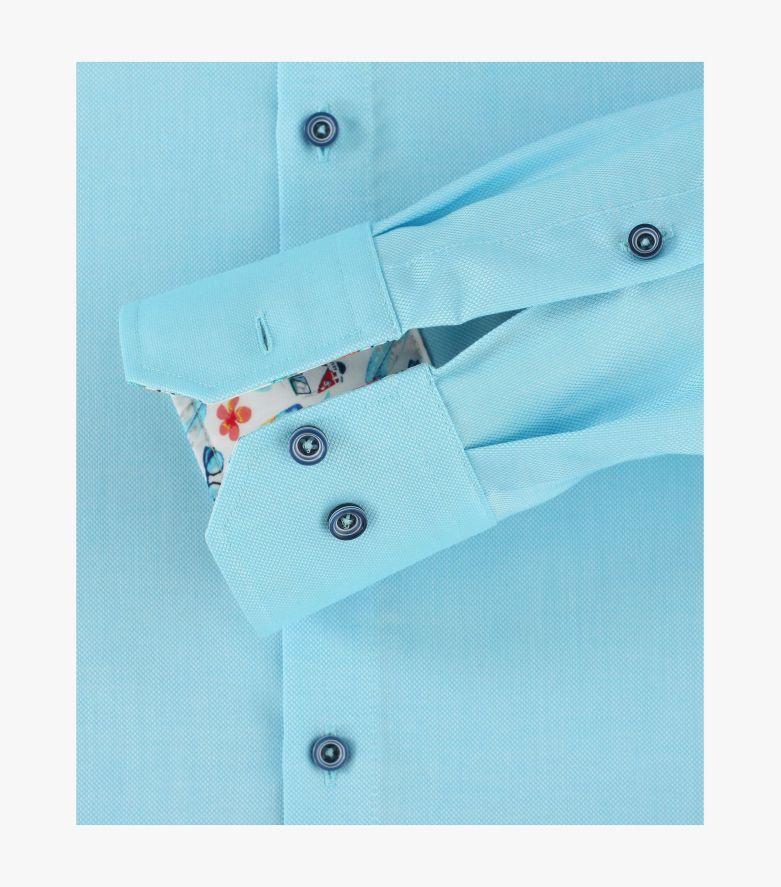 Businesshemd extra langer Arm 72cm in 350 türkis Modern Fit - VENTI