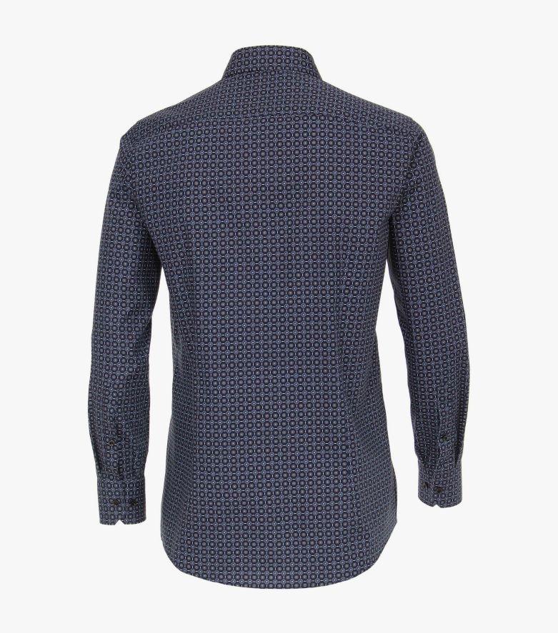 Businesshemd extra langer Arm 69cm in Mittelblau Modern Fit - VENTI