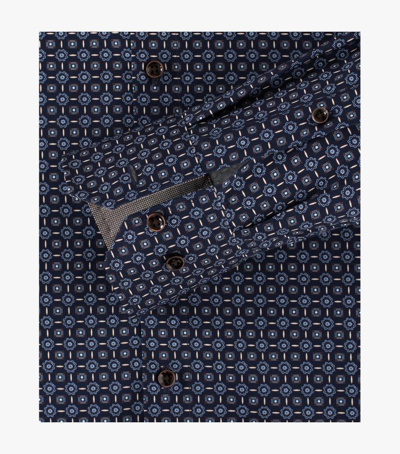 Businesshemd extra langer Arm 69cm in Mittelblau Modern Fit - VENTI