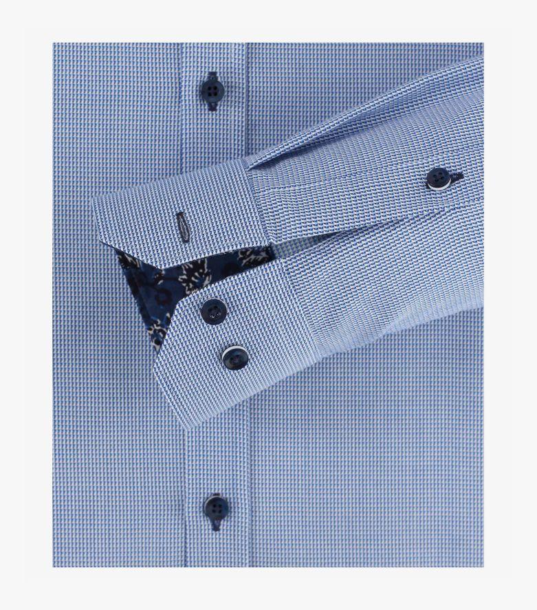 Businesshemd in Mittelblau Body Fit - VENTI