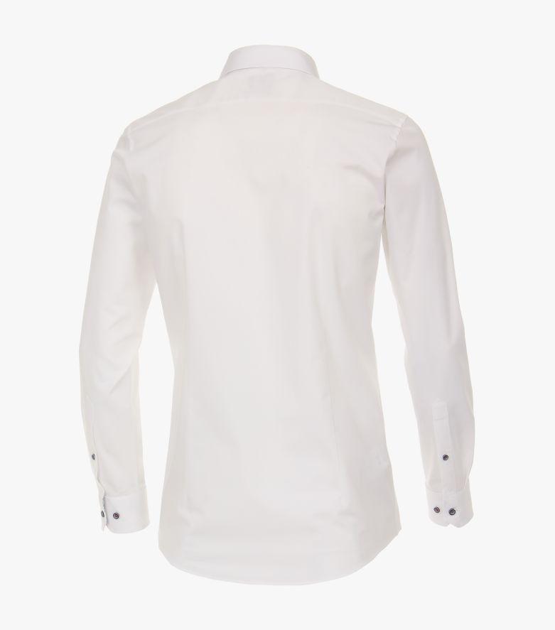 Businesshemd in Weißbeige Body Fit - VENTI