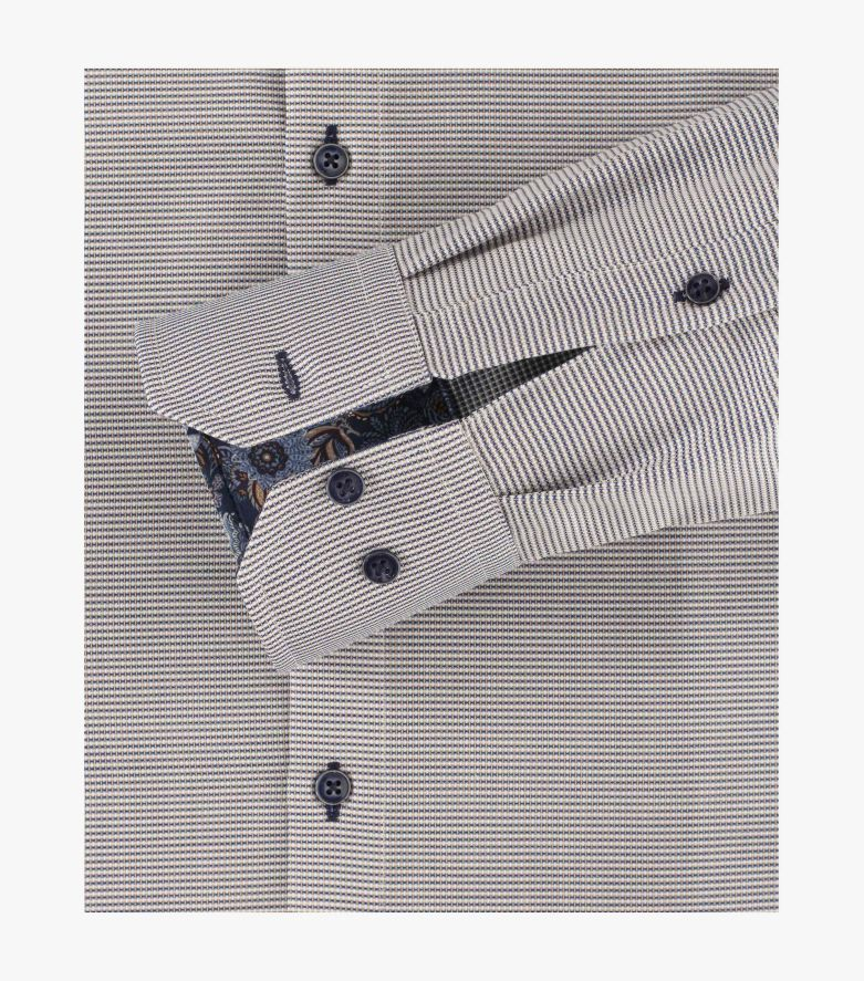 Businesshemd extra langer Arm 72cm in Beige Modern Fit - VENTI