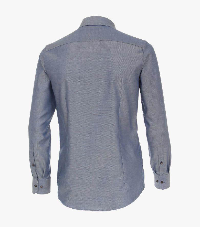 Businesshemd extra langer Arm 72cm in Mittelblau Modern Fit - VENTI