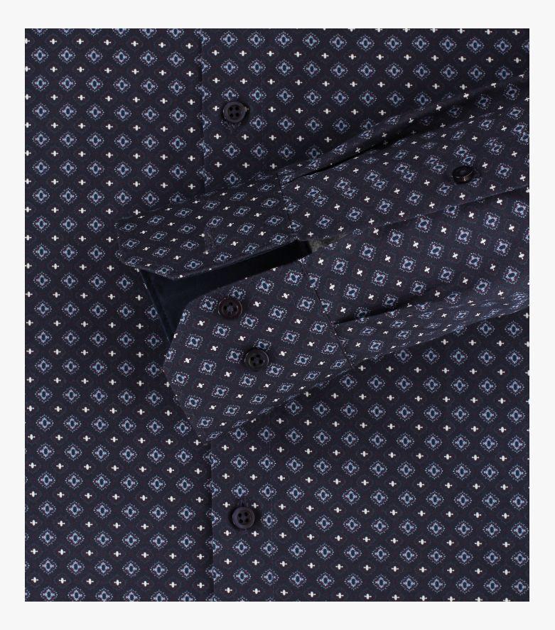 Businesshemd extra langer Arm 72cm in Dunkelblau Modern Fit - VENTI