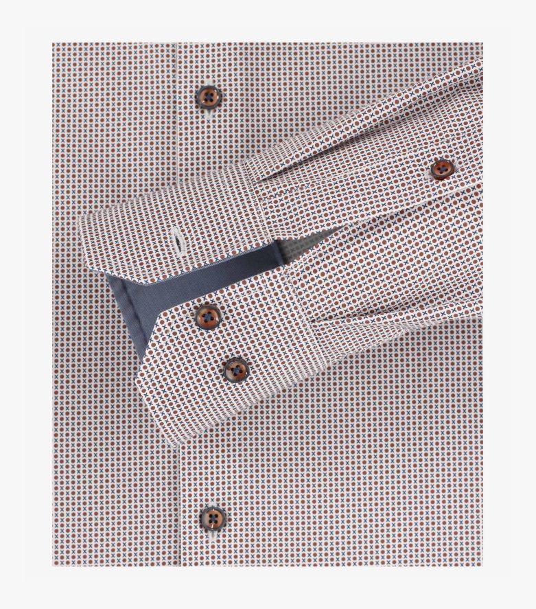 Businesshemd extra langer Arm 72cm in Braun Modern Fit - VENTI