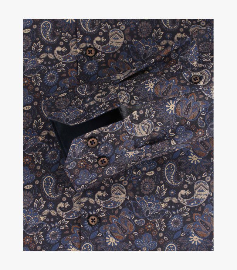 Businesshemd extra langer Arm 72cm in graues Mittelblau Modern Fit - VENTI