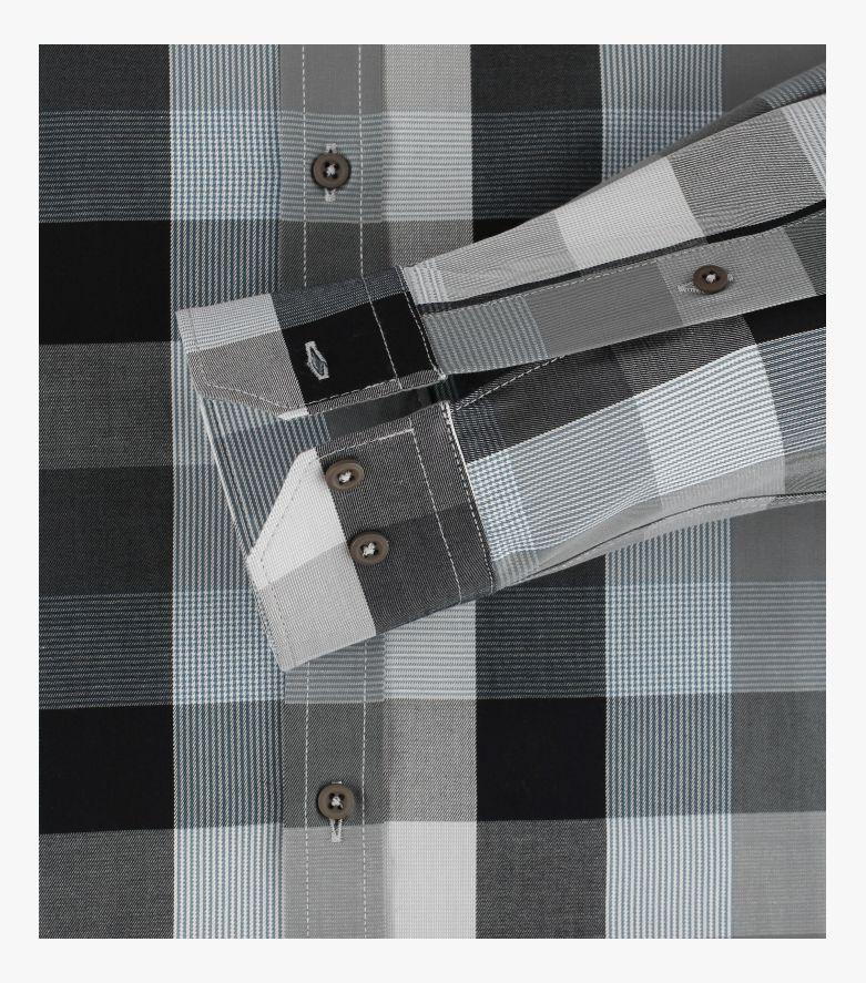 Freizeithemd in Schwarzgrau Modern Fit - VENTI