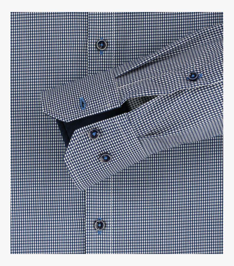 Businesshemd in dunkles Mittelblau Modern Fit - VENTI