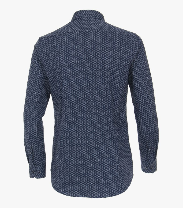 Businesshemd extra langer Arm 72cm in Mittelblau Body Fit - VENTI
