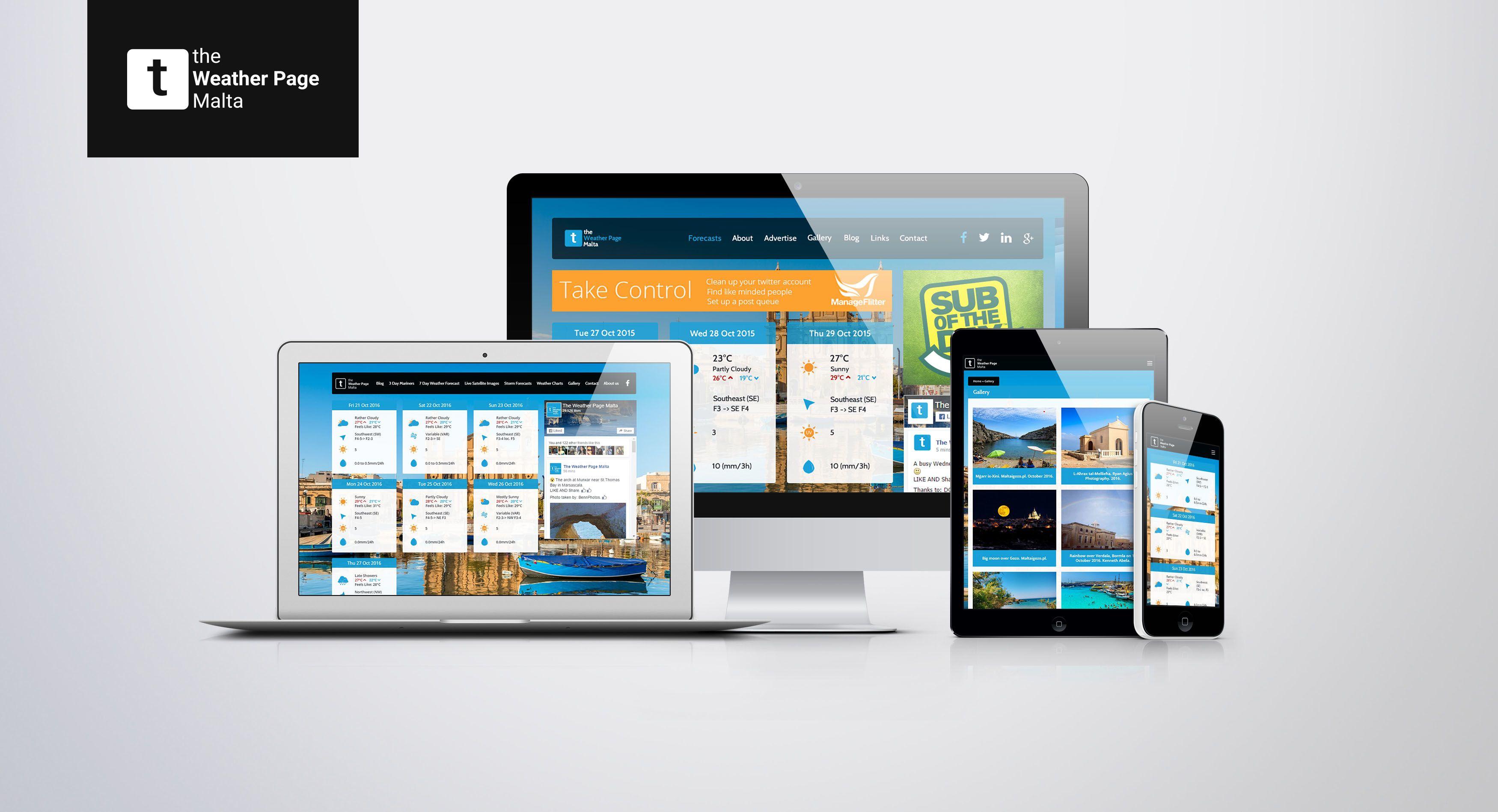 The Weather Page Responsive Website Design & Development