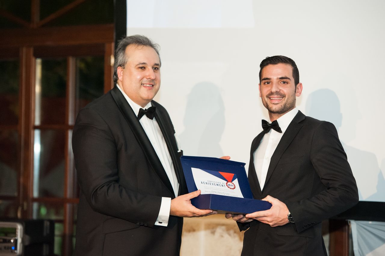Mark Cassar, CasaSoft's founder, being presented the Award during the Best in Business Awards 2016