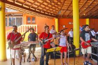 Cascades Band at Bambolim Beach Resort, Goa