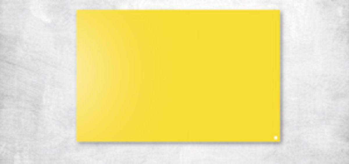yellow glass board