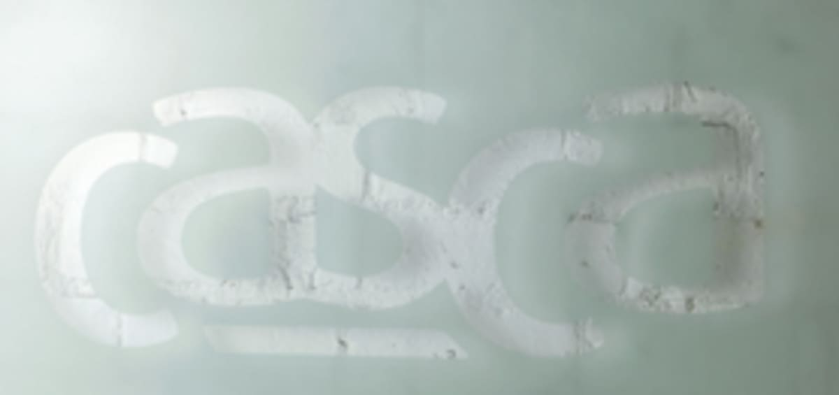 casca logo on personalised board