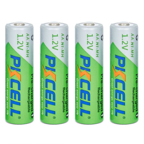 PKCELL Four-pack AA Rechargeable Batteries